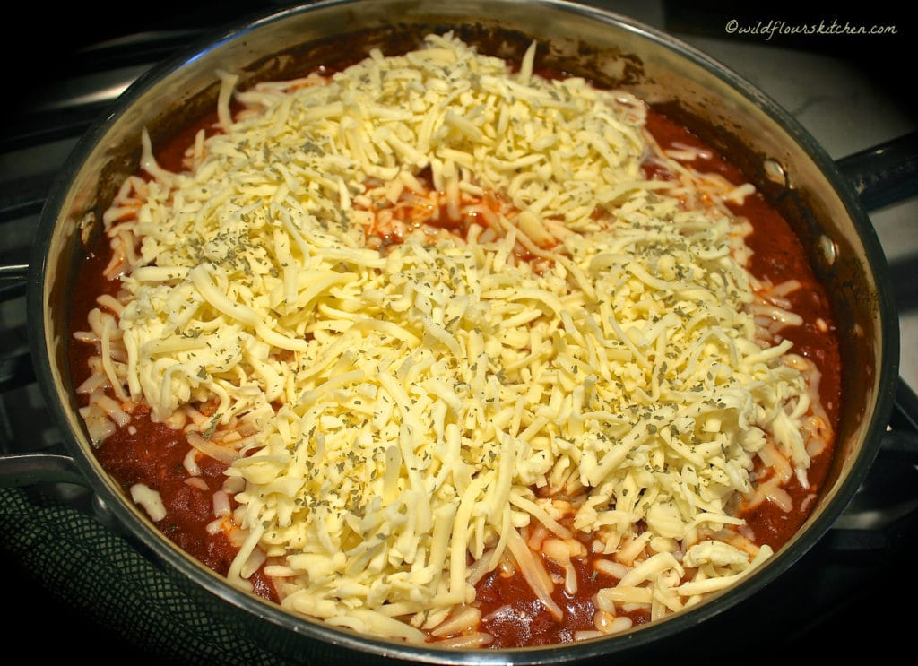 chicken pepperoni topped with cheese