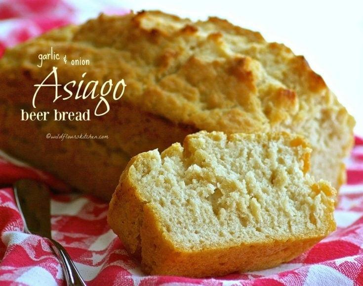Garlic & Onion Asiago Beer Bread