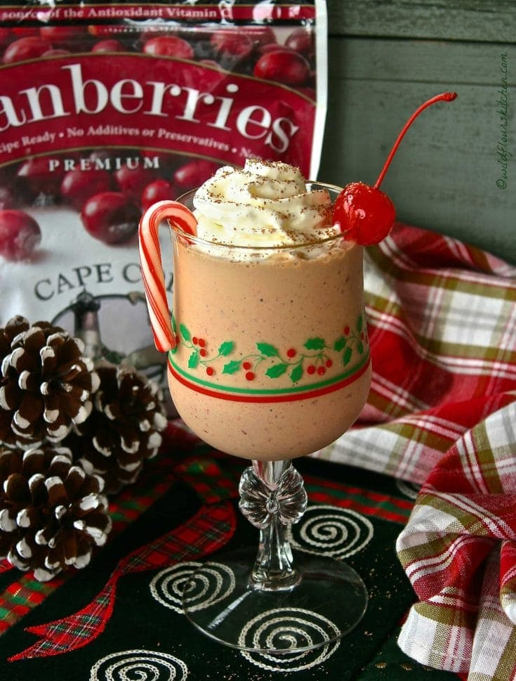 Frosty Chocolate Cranberry Frappe