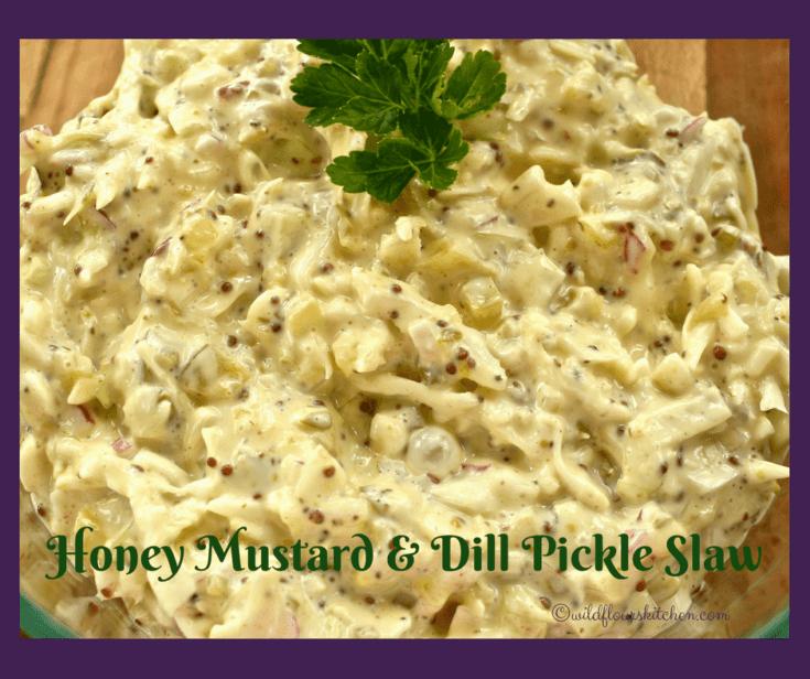 Honey Mustard, Red Onion & Dill Pickle Slaw