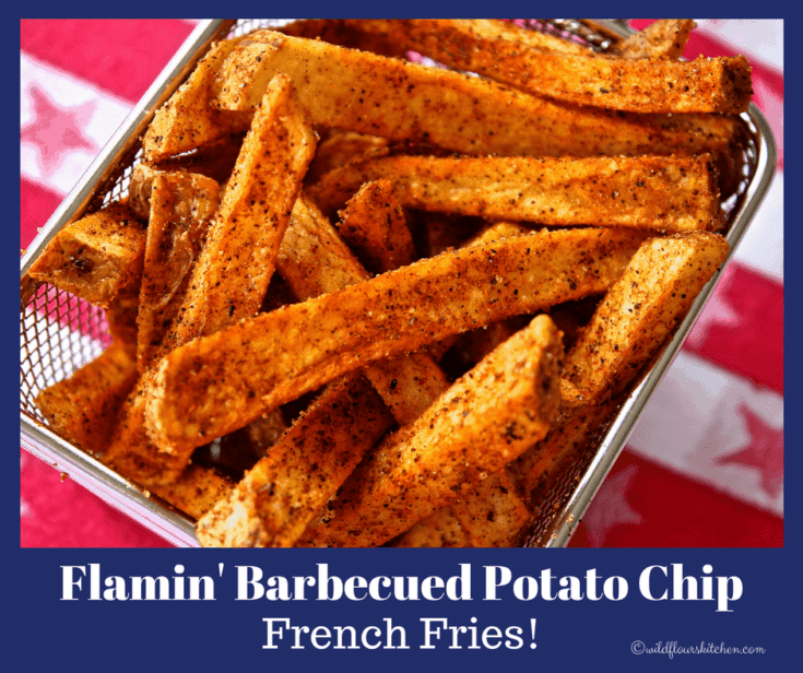 Flamin' Barbecued Potato Chip Flavored French Fries
