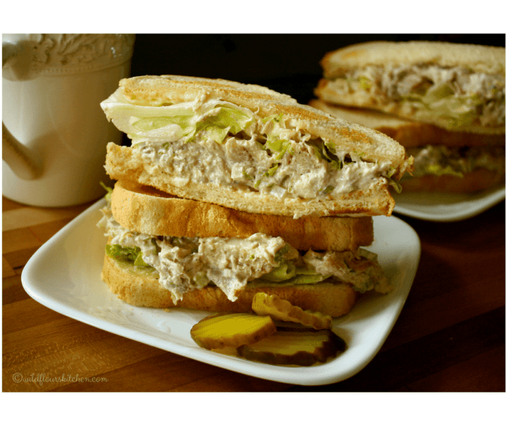 Easy Creamy Chicken Salad Sandwiches for Two