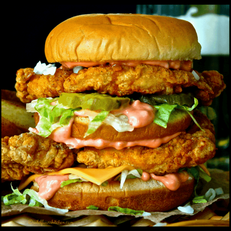 Copycat Chicken Big Mac