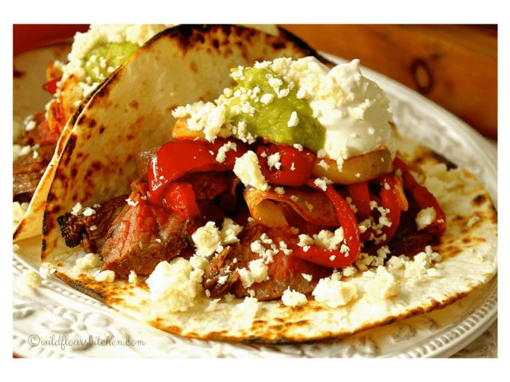 Key Lime Flank Steak Fajita Tacos