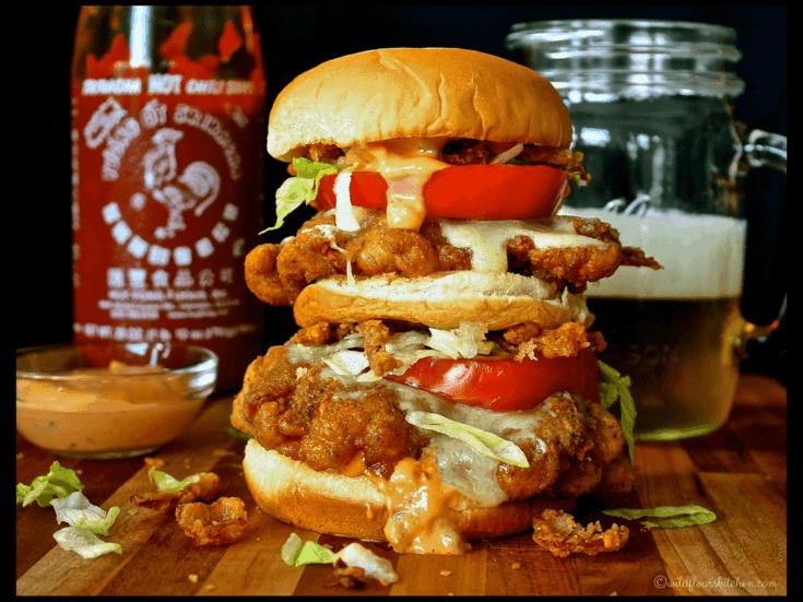 Copycat McDonald's Sriracha Chicken Big Mac