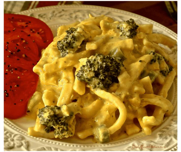 Cheesy Tuna 'n Homestyle Noodles with Broccoli