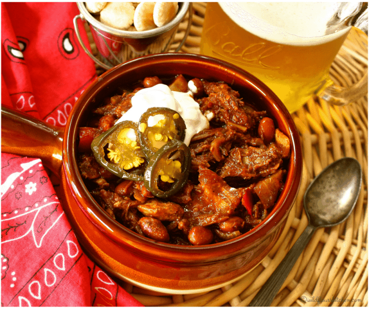 Smoked Pulled Pork BBQ Chili (Stovetop or Slow Cooker)