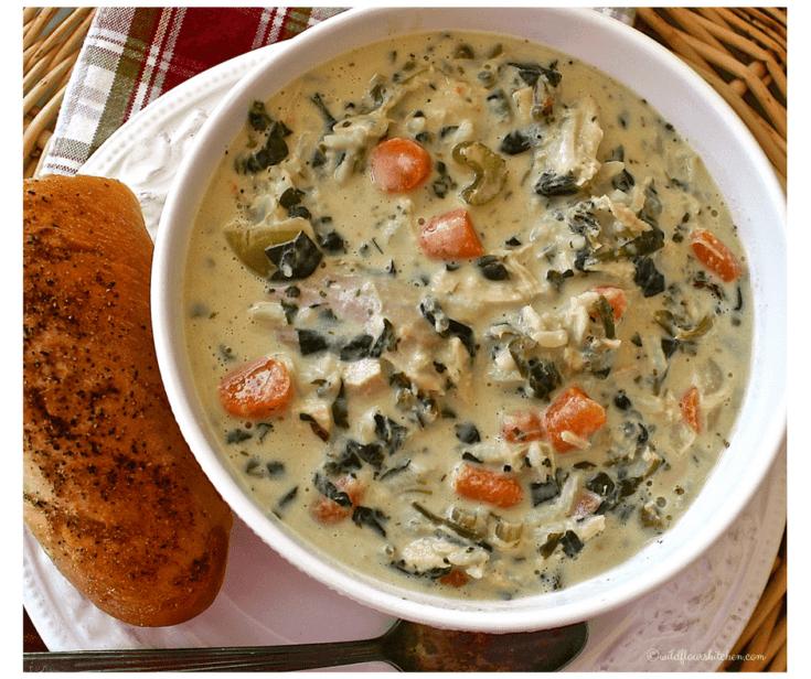 Cream of Turkey Wild Rice & Spinach Soup