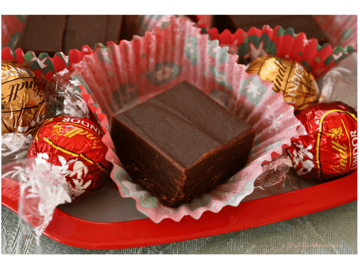 3 Ingredient Chocolate Peanut Butter Fudge