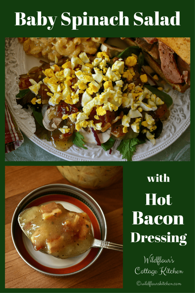 Retro Spinach Salad Amp Hot Bacon Dressing Wildflour S