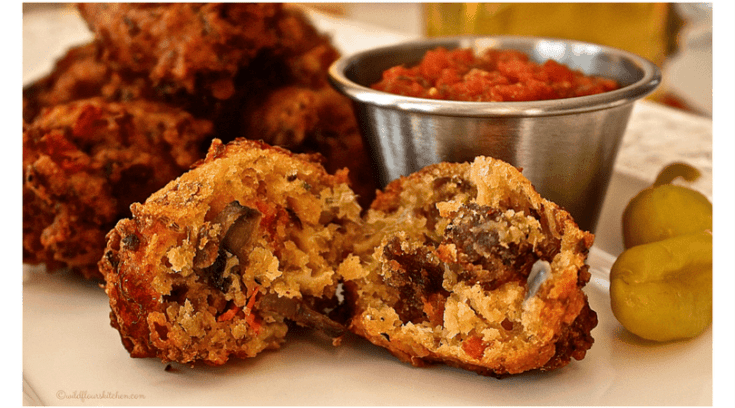 Loaded Italian Sausage & Pepperoni Pizza Fritters