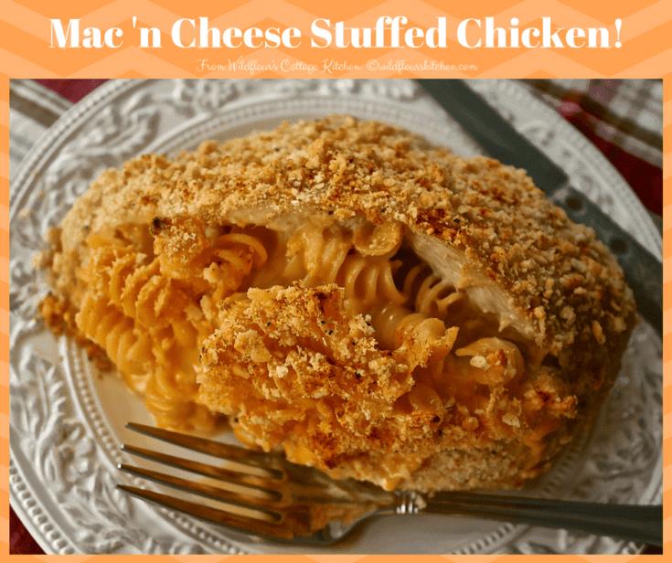Mac 'n Cheese Stuffed Chicken Breasts