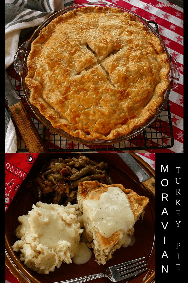 Moravian Roast Turkey (or Chicken) Pie with Gravy