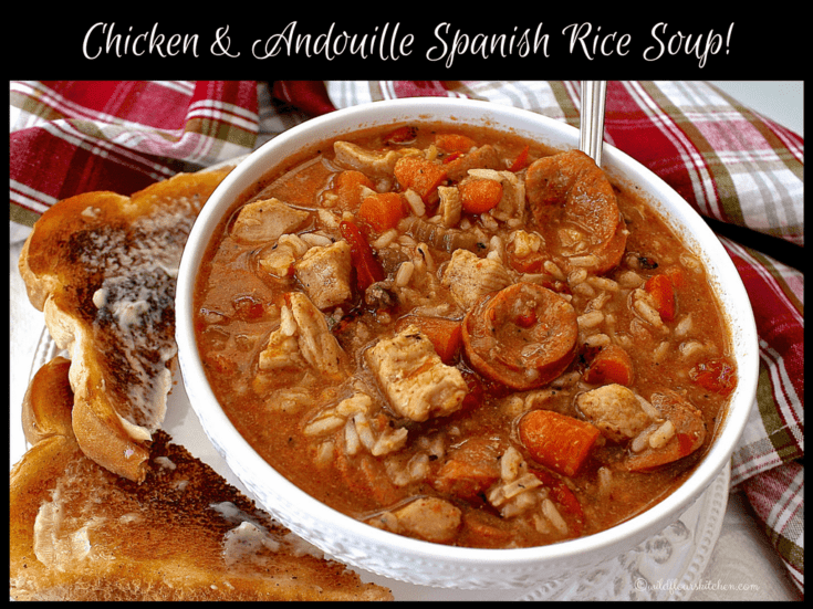 Chicken & Andouille Spanish Rice Soup