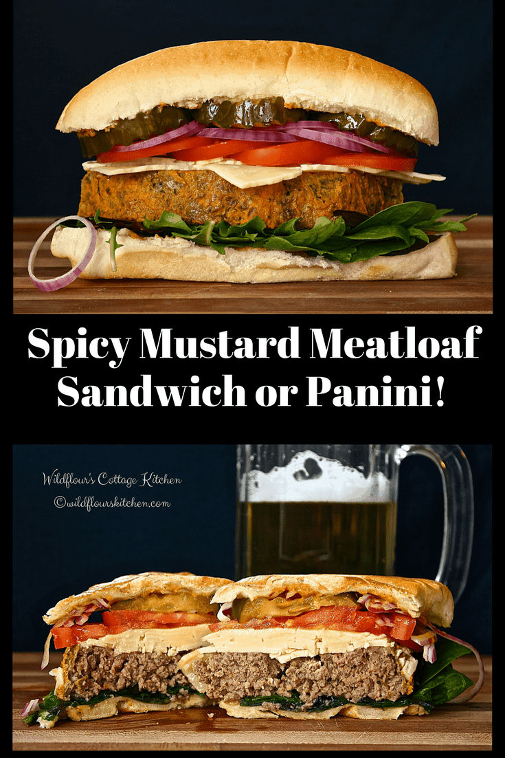 Spicy Mustard Meatloaf Sandwich or Panini