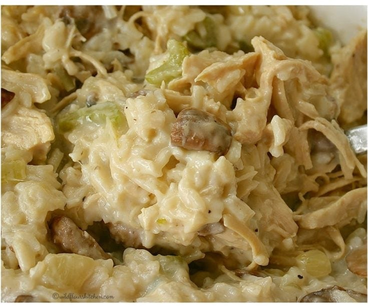 Old Fashioned No Canned Soup Chicken Rice Casserole