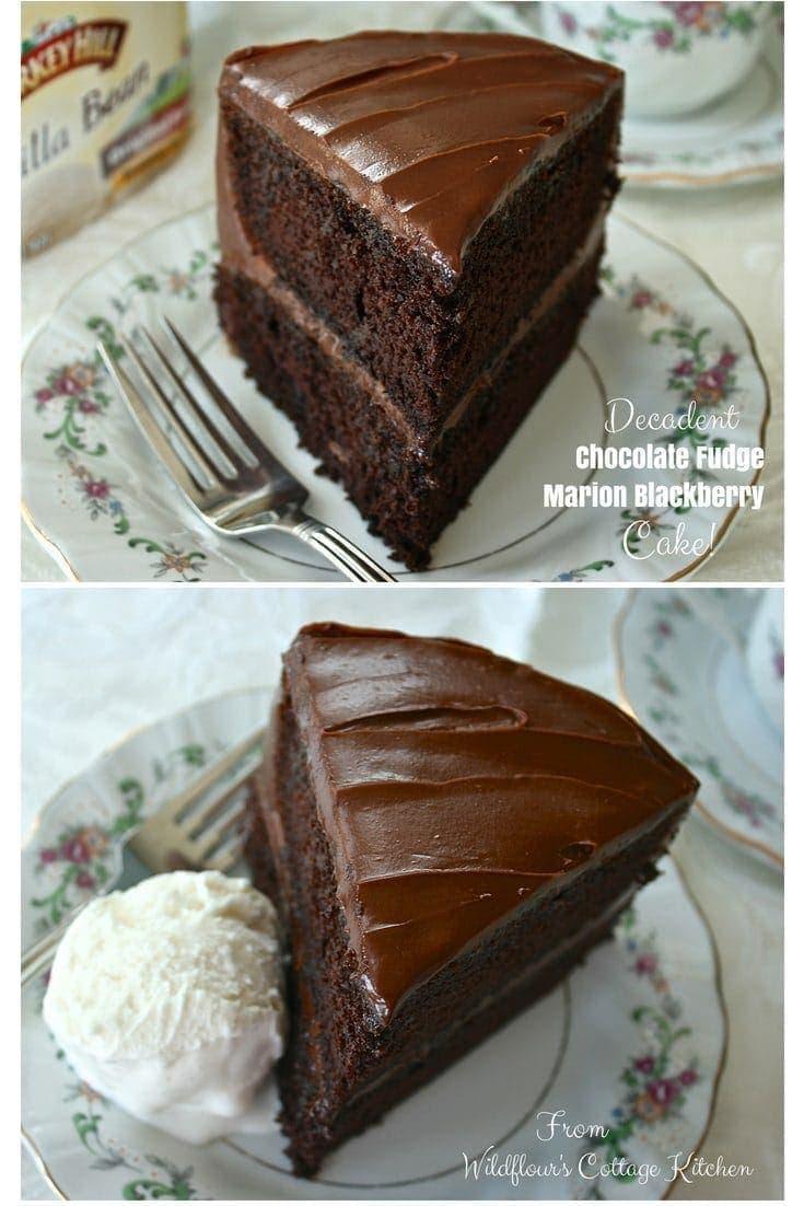 Decadent Chocolate Fudge Marion Blackberry Cake