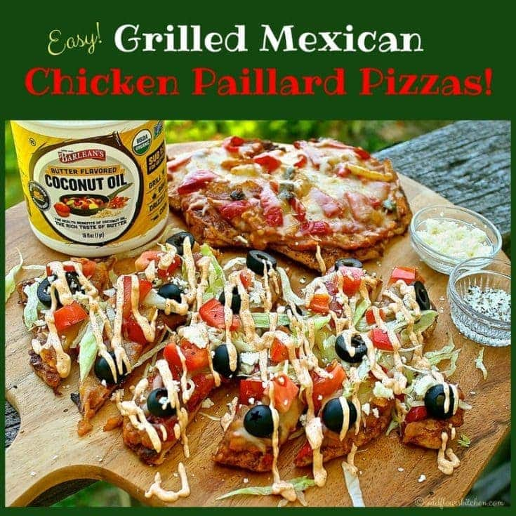 Grilled Mexican Chicken Paillard Pizzas #CookoutWeek