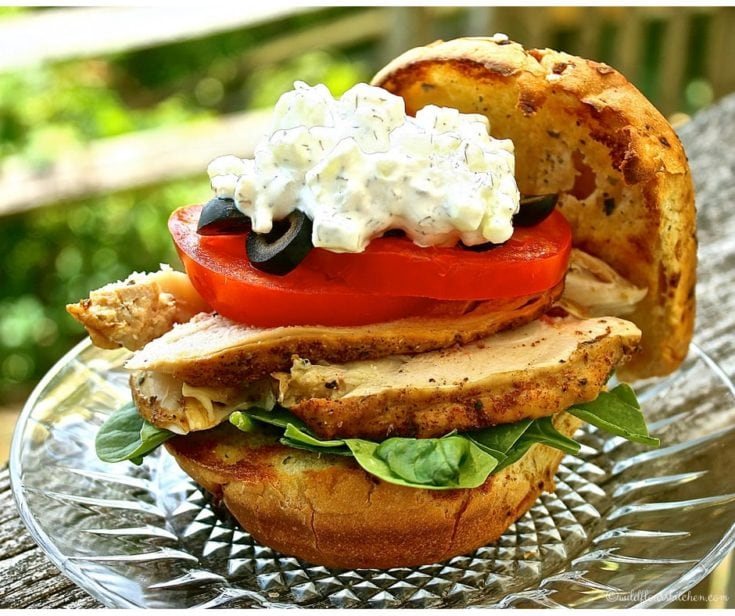 Spicy Smoked Chicken & Cheesy Tzatziki Sandwich