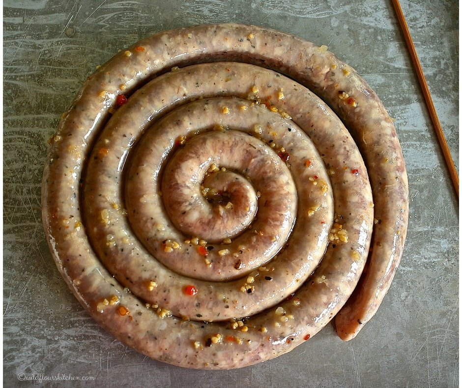 how to cook garlic coil sausage