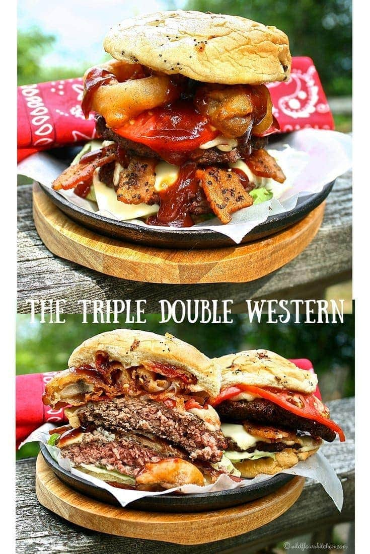 The Triple Double Western BBQ Bacon Cheese Burger