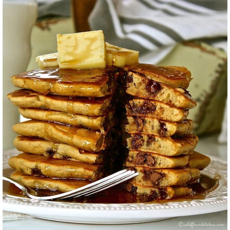 Espresso Chocolate Chip Pancakes
