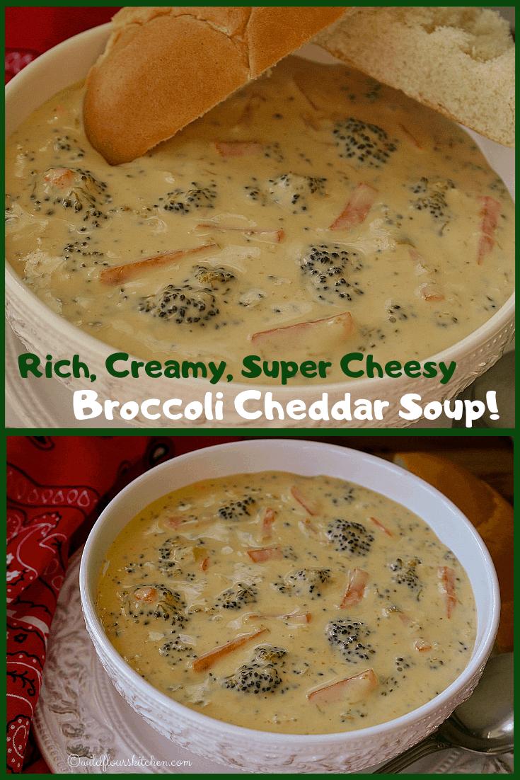 Rich, Creamy, Super Cheesy Broccoli Cheddar Soup