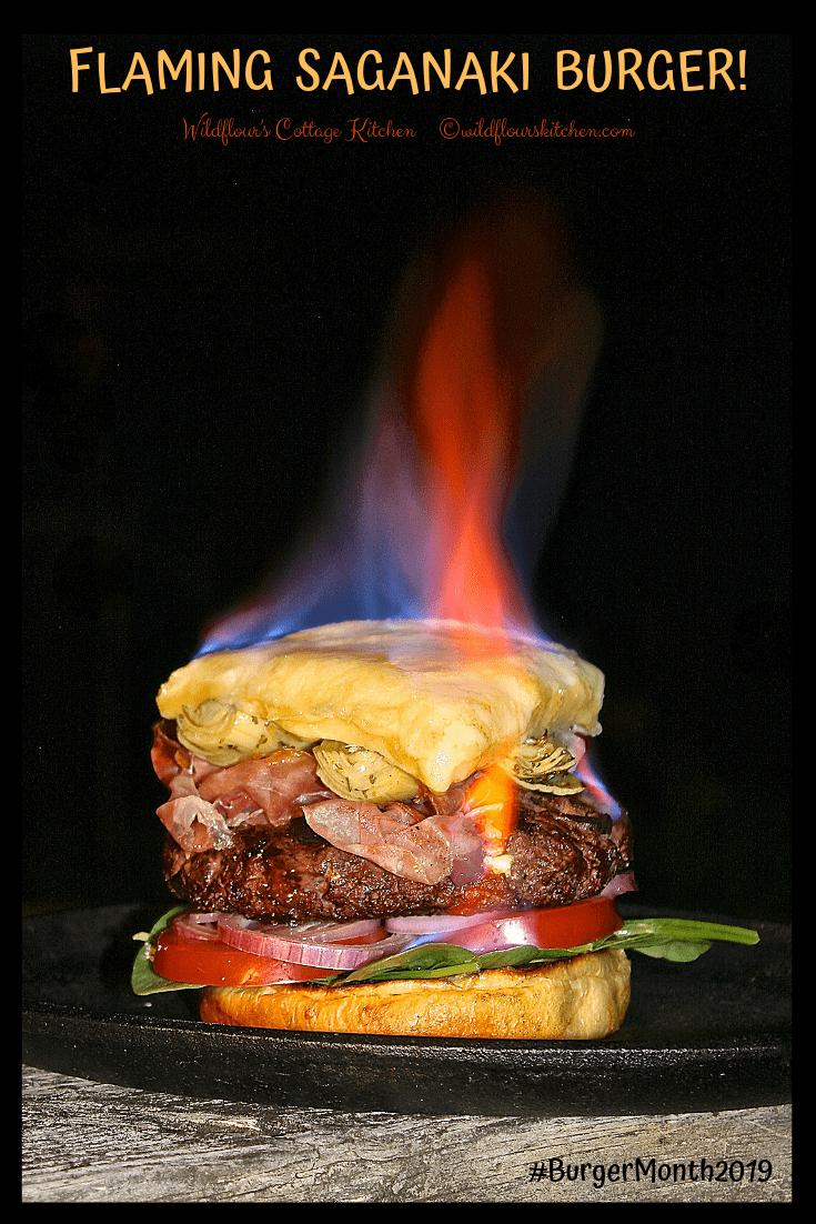 Flaming Saganaki Burger / Burger Month 2019