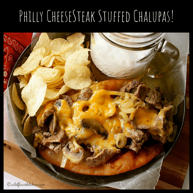 Philly Cheesesteak Stuffed Chalupas
