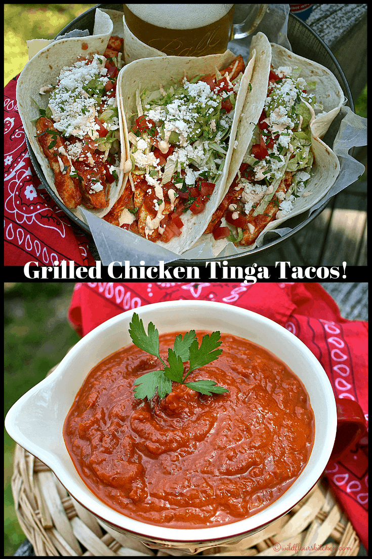 Grilled Chicken Tinga Tacos