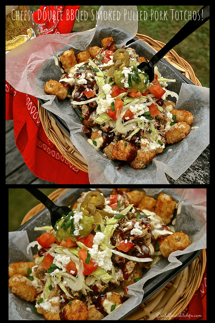 Cheesy Double BBQed Smoked Pulled Pork Totchos