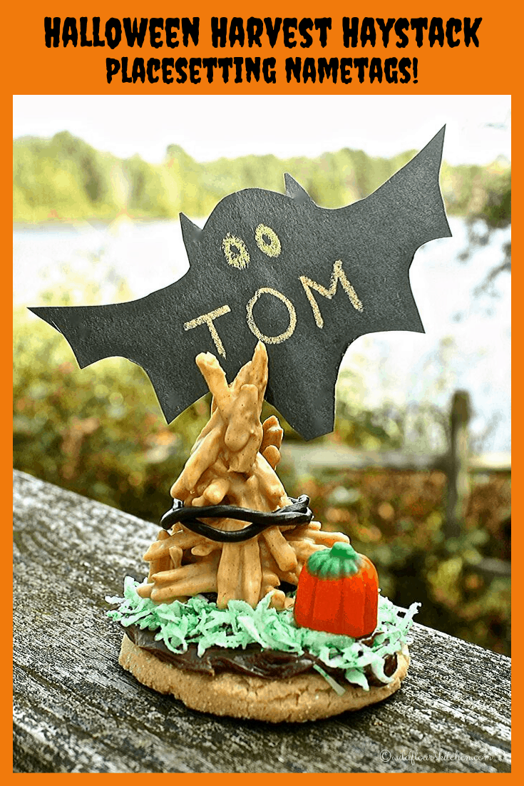 Halloween Harvest Haystack Name Tag Place Settings / Choctoberfest 2019