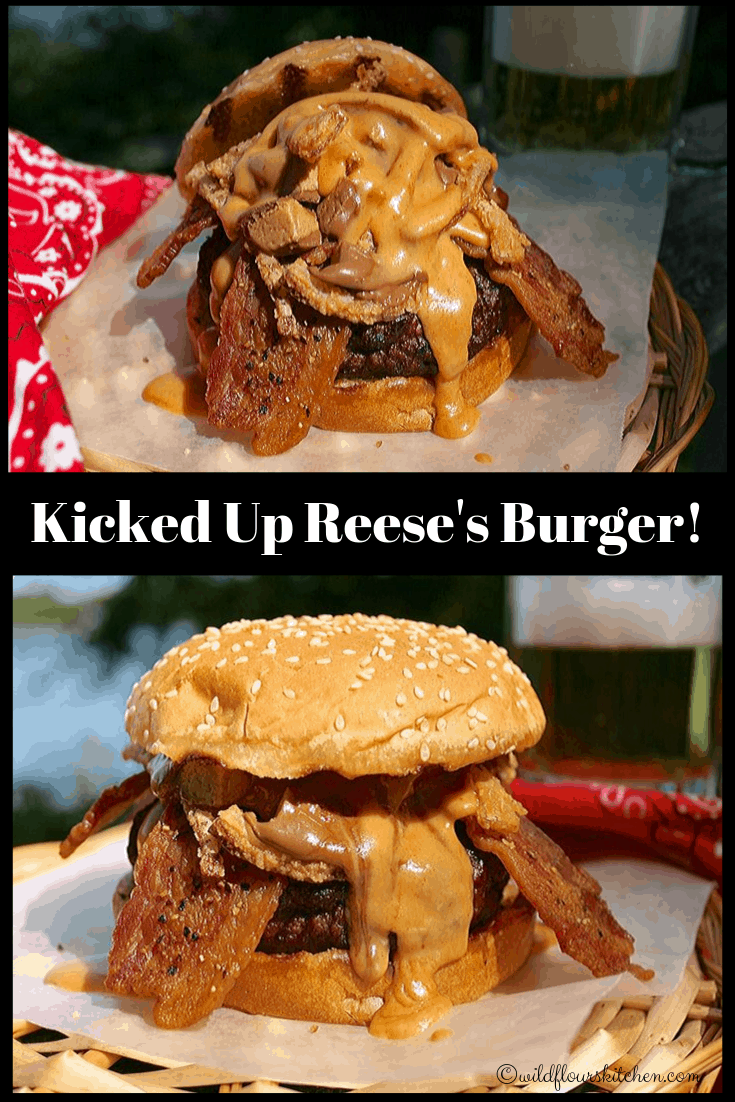 The Canadian Reese's Peanut Butter Cup Burger Kicked Up! / #Choctoberfest 2019