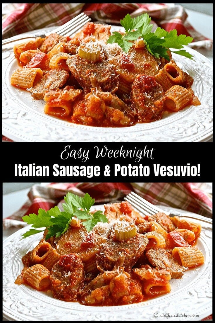 Easy Weeknight Italian Sausage and Potato Vesuvio
